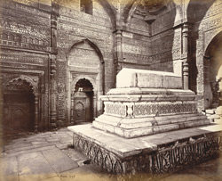 Tomb of Shums-ood-Deen Altamsh, part builder of the Kotab Mosque, died 1236, [Delhi].